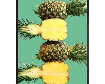 Food Photography, Kitchen printable Art, Food Art print,Halved pineapples print,food print,Instant Download,Digital Photo