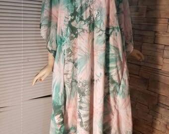 60s tunic ,hippie dress,boho fashion,festival costume  ,maxi summer dress, long sleeved maxi dress