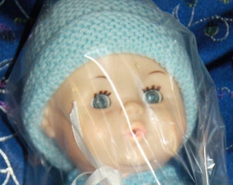vintage doll 30 cm baby doll sleeping eyes doll comes with new clothes shown preloved doll 70's vintage doll baby doll retro vintage toy