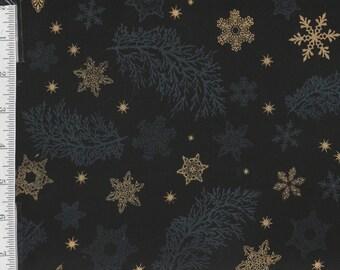 Holiday Flourish 9 - Per Yd - Robert Kaufman - Peggy Toole - Gorgeous!!  Stars on Black