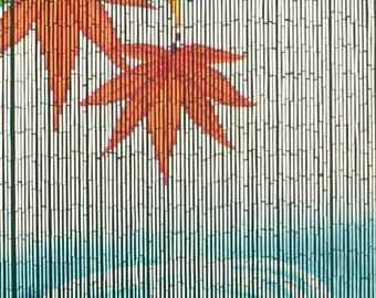 Serenity Water Ripple Bamboo Beaded Curtain