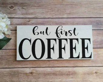 coffee sign kitchen sign coffee shop sign coffee decor