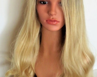 Wig ombre lace front blond black 65 cm Cape M/L adjustable
