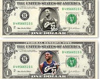 LEBRON JAMES on a REAL Dollar Bill Cash Money Memorabilia Collectible Celebrity