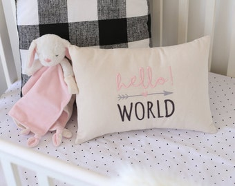 Baby Girl Pillow Cover, Baby Boy Pillow Cover, Embroidered Baby Pillow Cover, Babies Room Decor, Nursery Decor, Baby Gift, Home Decor