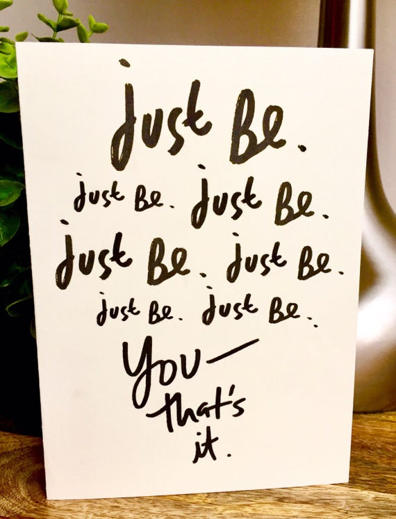 Just be you, spectacular you, encouragement card, you stand out card, toure perfect, unique friendship card, Be yourself card, sidesanswich