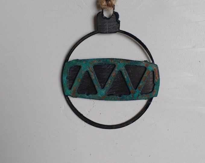 Patina Drum Pattern Ornament