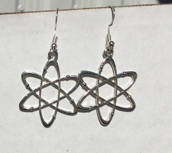 Atom Earrings, for the scientist