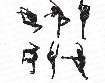 dancer silhouette etsy