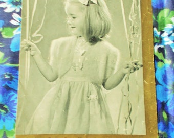 Original Vintage P & B Knitting Pattern - 1950's - Pattern no. 321 - Girl's Party Bolero - Age 4 to 5 years - Used