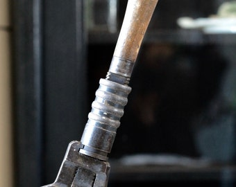 "Antique Bemis & Call Hardware and Tool Co. 16 1/2"" Pipe Wrench, combination wrench."