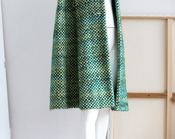 Wool Cape  | Vintage Wool Cape | Green Wool Cape |Knee Length Cape | 1960's wool cape | Wool and Mohair Cape | Mohair Cape | Sz S