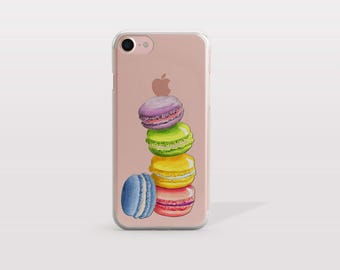 iPhone 7 Case Macaroons, iPhone 7 Plus Case, iPhone 6S Case, iPhone 6 Case, i7 Cases, i6 Cases, iPhone 5S Case, Tech Gift For Her - KT251