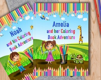 Personalized Coloring Book for Kids - A Fun Coloring Book Adventure to Help Learn the Alphabet and Animals - A Great Gift for Young Children