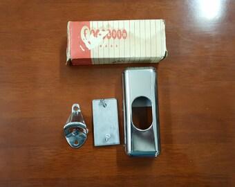 Vintage Franklin Brass Bottle Opener with Cap Catcher ,  bottle opener, cap catcher, retro opener, collectible opener, in box opener