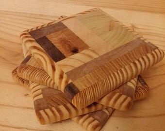 Pallet Wood Coaster, Scrap Wood Coaster, Butcher Block Coaster, Wooden Coasters, Wood Coasters