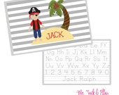 Pirate Placemat - Personalized Placemat - Children's Placemat - Child Placemat - Laminated Placemat