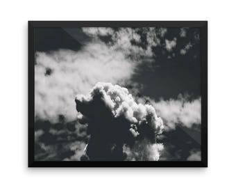 Dark Clouds   Nature Photography   Instant Download   16x20 Photo Print   Sky   Clouds   Gallery Wall Art   Wall Decor   Black & White