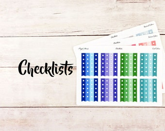 Checklists | Functional Stickers | Planner Stickers