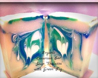 Free shipping Organic Bar Soap Thalassa/bar soap 4-4.5oz/bar soap/Handmade soap