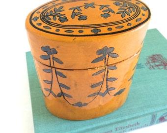 Wood Box - Lacquer Wood Box - Lacquer Box - Hand Painted Box - Jewelry Box - Wooden Trinket Box - Oval Box - Wooden Box - Wood Box