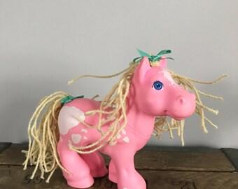 Vintage 1980's Crimp & Curl Pink Cabbage Patch Pony - OSVKT0003