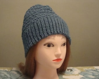 Blue Slouchy Hat, Woman's Blue Slouchy Hat, Blue Winter Hat, Blue Slouch Hat, Womens Blue Hat, Womens Blue Slouch, Womens Slouch Hat