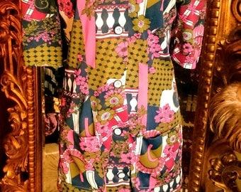 Vintage 70's w Piece Skirt Set
