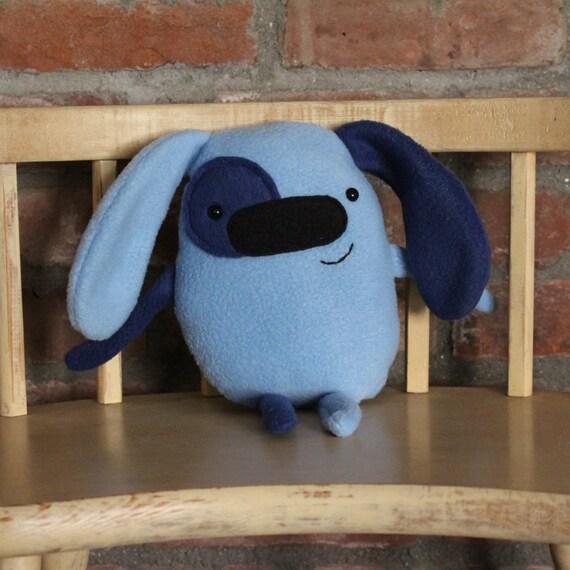 plush dog handmade stuffed animal ooak plushie blue dog. Black Bedroom Furniture Sets. Home Design Ideas