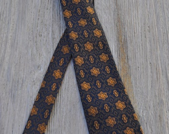 Vintage 70's tie SCHAPIRA 126X7.5