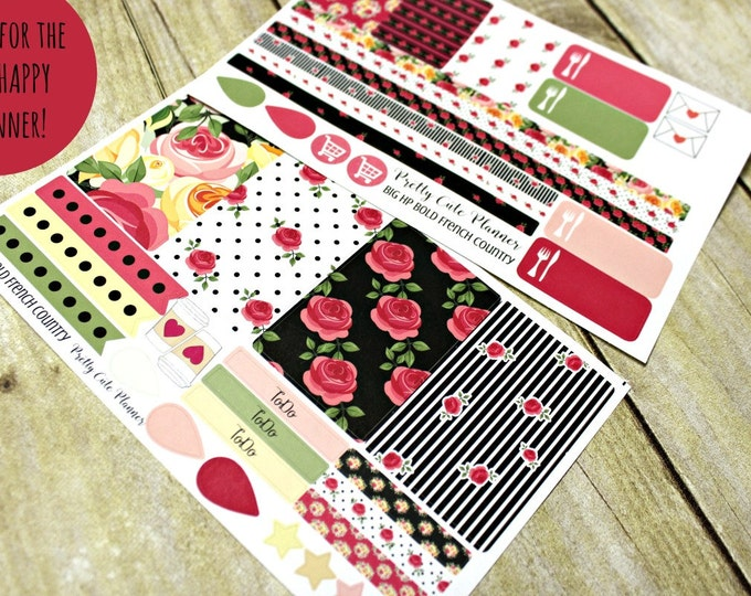 BIG Happy Planner Planner Stickers - Weekly Planner Sticker Set - Happy Planner - Day Designer - Functional stickers - Bold French Country