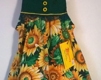 Sunflower Fields Toddler Dress
