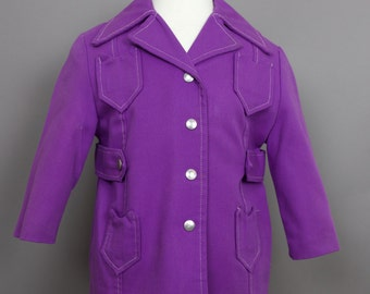 VINTAGE CHILD DENIM purple coat size 6/7