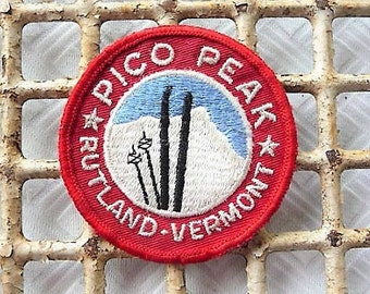 Pico Peak Ski Patch ...   Old Rutland Vermont Skiing Souvenir ...  Skiing Memorabilia