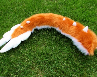 Fluffy Furry Cosplay Angel Dragon Tail Any Color Fursuit Tail Minky Feathers Extra Soft Cute