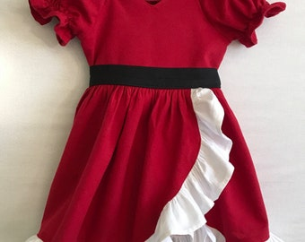 Santa Baby, Baby girl Dress, Little Girl Dress, Christmas Dress , Santa Dress, Holiday Dress, Baby Dress, Toddler Dress,