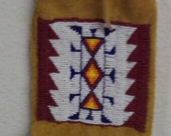 Lakota beaded pipe bag