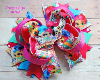 Shimmer and Shine Hair Bow Shimmer and Shine Bow Girl Hair Bow Shimmer and Shine Birthday Boutique Hair bow Shimmer and Shine Party OTT Bow