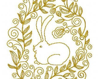 E005 Easter bunny - Machine Embroidery Design