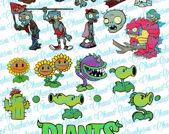 Plants VS Zombies Inspired, Combo SVG
