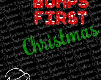 Bumps First Christmas with Santa Hat SVG