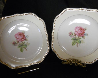 "Homer Laughlin Eggshell Georgian E41 N5  ""Calirose"" 8"" salad plate - set of 4"