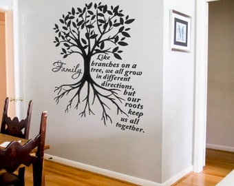 Exceptional Family Like Branches On A Tree We All Grow Wall Quotes Family Decals Family  Tree Decals Part 31