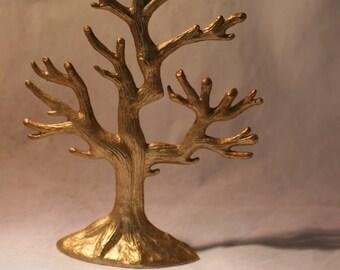 Gold Metal Tabletop Tree