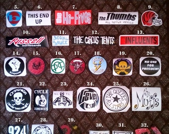 Choose Any 10 Billie Joe guitar stickers Just 19 dollars! Green Day BJ All versions