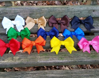 Solid Color Bows with tails (3 inch)