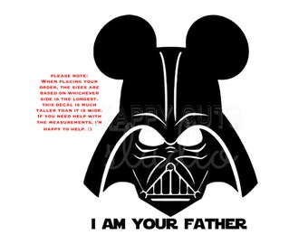 Personalized Star Wars Darth Vader I am your Father Mickey Minnie Mouse Matching Family Disney Vacation Iron On Decal Vinyl for Shirt 042