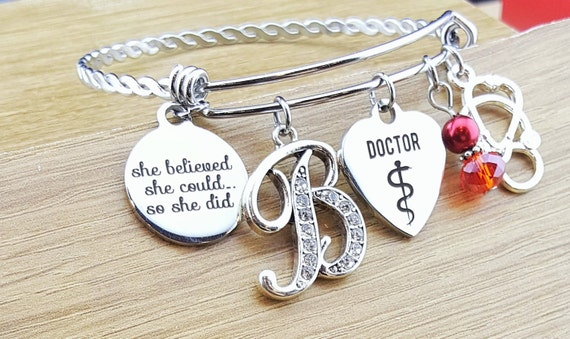 Physician Gifts Doctor Gift Graduation Gift for Her Gift for Doctor Doctor Graduation Gift She Believed She Could So She Did