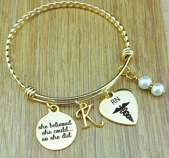 Gold RN Graduation Gift Nurse Graduation Gift Graduation Gift for Nurse College Graduation Graduation Gift for Her Senior 2017 Senior Gifts