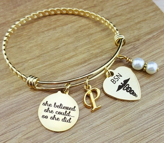 Gold BSN Graduation Gift Nurse Graduation Gift Graduation Gift for Nurse College Graduation BSN Gift for Nurse Senior 2017 Senior Gifts